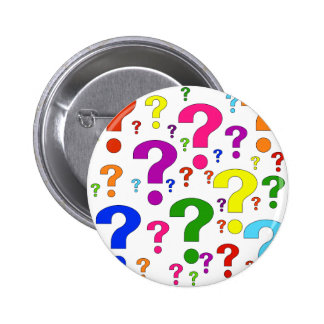 Rainbow Question Marks Button