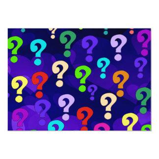 Rainbow Question Marks Card