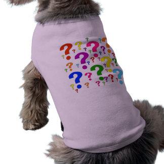 Rainbow Question Marks Dog Tshirt