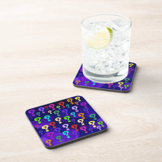 Rainbow Question Marks Drink Coasters