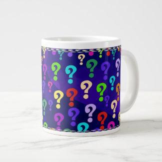 Rainbow Question Marks Giant Coffee Mug