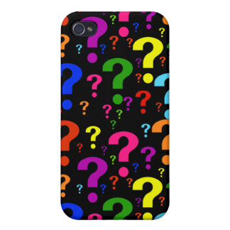 Rainbow Question Marks iPhone 4 Cover