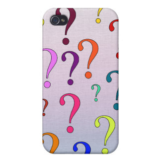 Rainbow Question Marks iPhone 4 Case