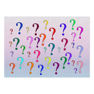 Rainbow Question Marks Large Business Card