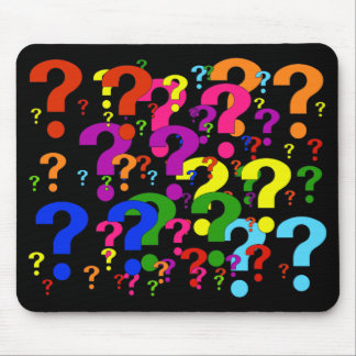 Rainbow Question Marks Mouse Mats