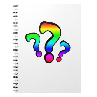 Rainbow Question Marks Spiral Note Book