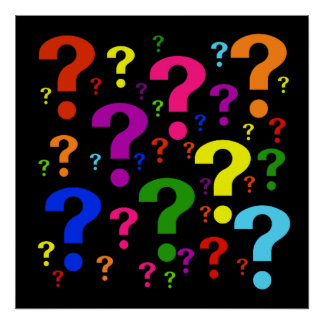 Rainbow Question Marks Poster