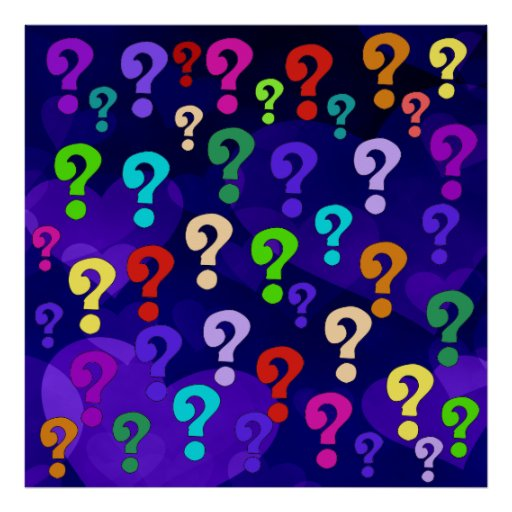 http://rlv.zcache.com/rainbow_question_marks_print-re608b0fd336b482892ad32f9fcb18f5c_wvm_8byvr_512.jpg