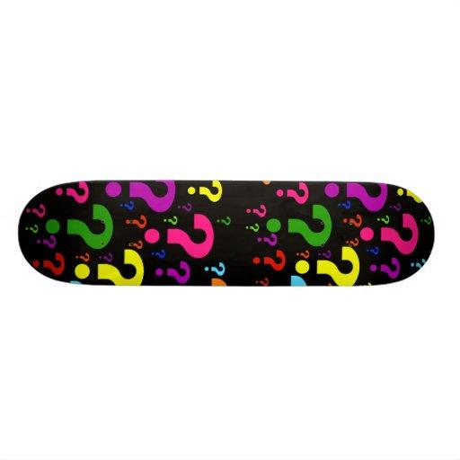 Rainbow Question Marks Skateboard Deck