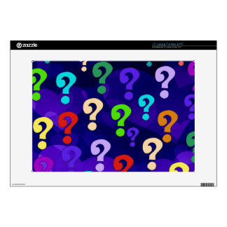 """Rainbow Question Marks Decals For 15"""" Laptops"""
