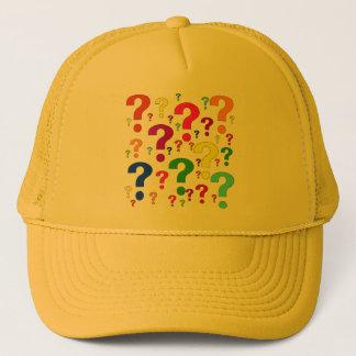 Rainbow Question Marks Trucker Hat