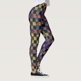 Rainbow Quilt Damask Print Leggings