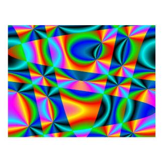 Rainbow quilt ~ Postcard