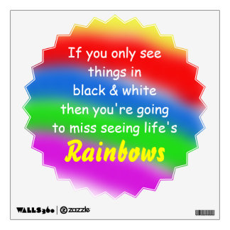 Rainbow Quote Wall Decal