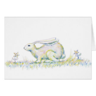 Rainbow Rabbit Card