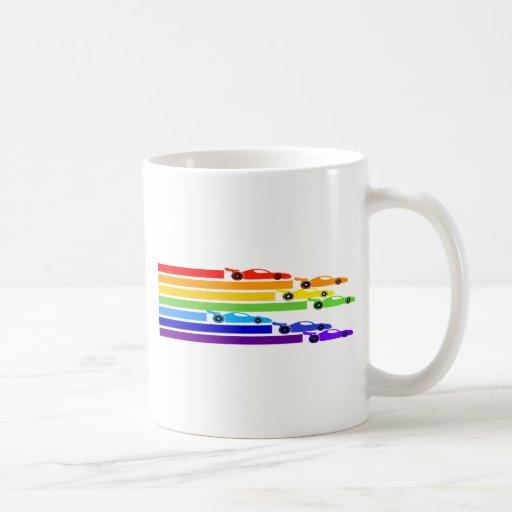 Rainbow Racers Coffee Mug
