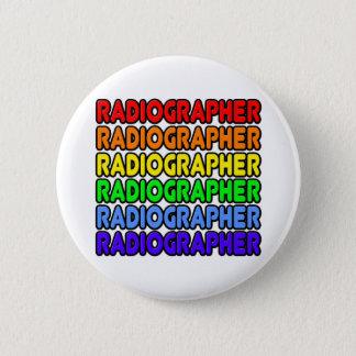 Rainbow Radiographer Button