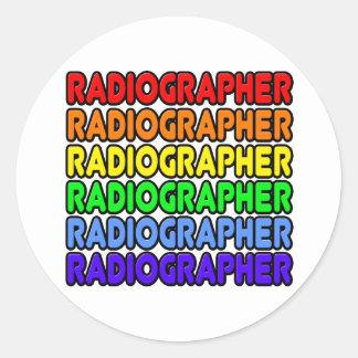 Rainbow Radiographer Classic Round Sticker