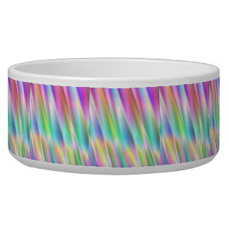 Rainbow Rain Dog Food Bowls