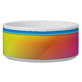 Rainbow Rain Dog Water Bowl