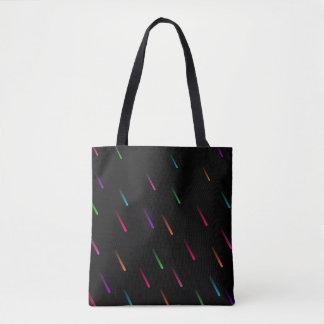 Rainbow Rain Drops (dark) Tote Bag