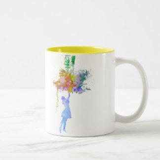 Rainbow Rain Two-Tone Coffee Mug