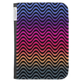 Rainbow Rainbow Diagonal Stripes Kindle 3 Cover