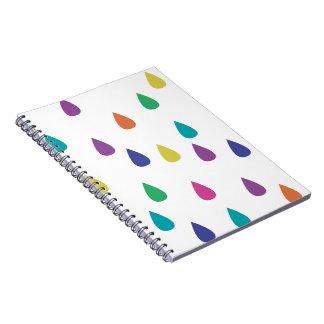 Rainbow Raindrops Notebook