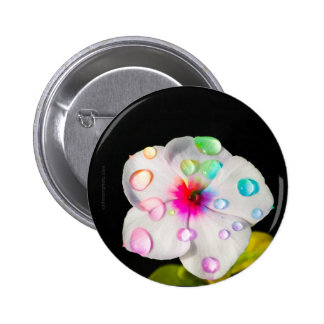 Rainbow Raindrops Periwinkle | Button Designs