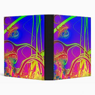 Rainbow Rainforest Understory Fractal 3 Ring Binder