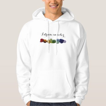 SunshineSeaglass Rainbow rare sea glass, beach glass hoodie