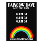 Rainbow Rave Custom Flyer