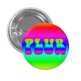 "Rainbow Rave ""PLUR"" Pin"