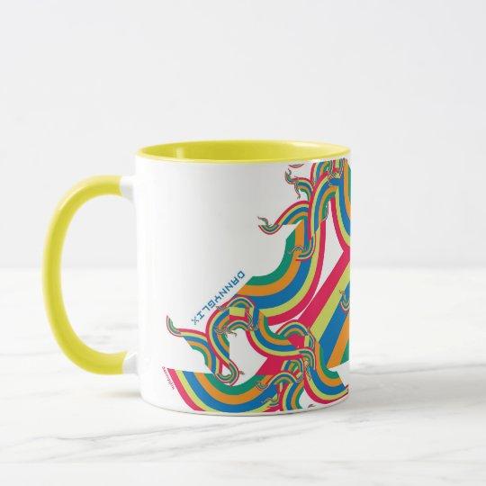rainbow rave yellow coffee cup