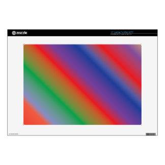 """rainbow rays 15"""" laptop skin"""
