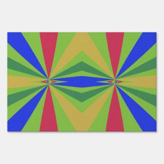 Rainbow rays abstract design yard sign