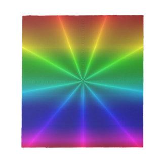 Rainbow Rays Notepad