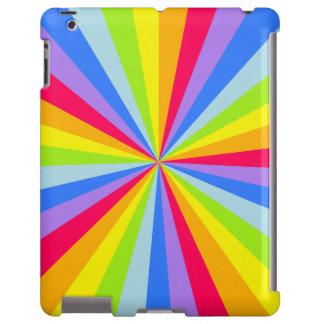 Rainbow rays pattern multi-colored ipad case