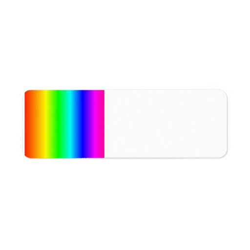 Rainbow Rectangle Custom Return Address Labels