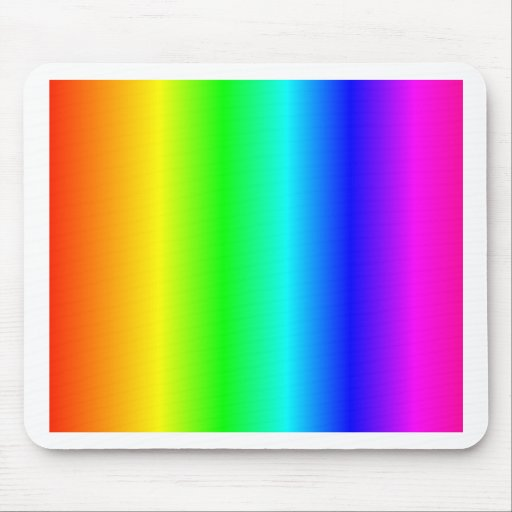 Rainbow Rectangle Mouse Pad