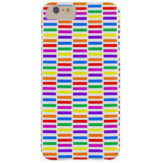 Rainbow Rectangle Pattern Barely There iPhone 6 Plus Case
