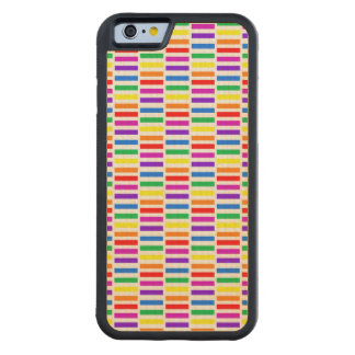 Rainbow Rectangle Pattern Carved® Maple iPhone 6 Bumper Case