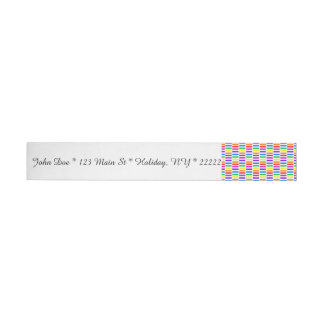 Rainbow Rectangle Pattern Wrap Around Address Label