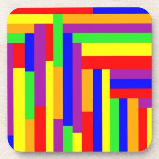 Rainbow Rectangles Coaster