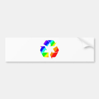 Rainbow Recycle Sign Car Bumper Sticker