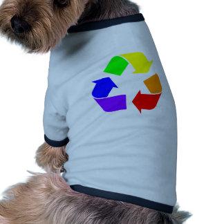 Rainbow Recycle Sign Doggie Tee Shirt