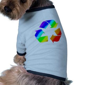 Rainbow Recycle Sign Dog Shirt