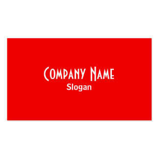 Rainbow Red Business Card
