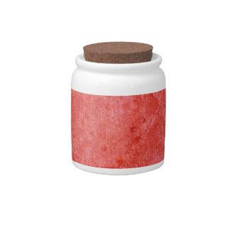 Rainbow Red Decorative Ceramic Jar With Cork Lid Candy Dish