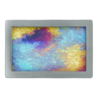 Rainbow Reflections in Water Belt Buckle